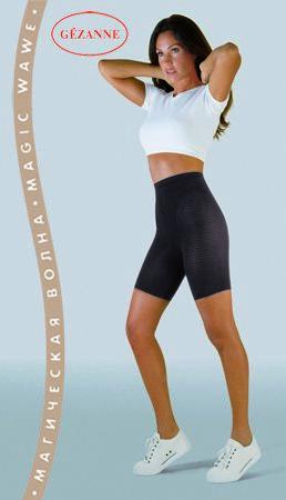 Антицеллюлитное белье, шорты Gezanne Магическая ВолнаАнтицеллюлитные шорты<br>Микромассажные шорты &amp;amp;quot;Магическая Волна&amp;amp;quot; специально разработаны для коррекции фигуры и избавления от целлюлита, они имеют уникальное волонообразное плетение, оказывают постоянное массажное воздействие.&amp;lt;br /&amp;gt;<br><br>Бренды: GEZANNE<br>Вид товара: Белье<br>Область ухода: Бедра и ягодицы, Ноги, Талия и живот<br>Назначение: Похудение, снижение веса, Антицеллюлитное, Коррекция фигуры<br>Размер INT: XL (48-52)
