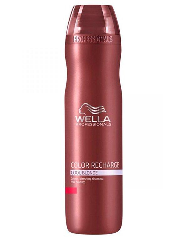 Шампунь для освежения цвета светлых оттенков WellaШампуни для окрашеных волос<br>Шампунь восстанавливает насыщенность и яркость цвета волос оттенка блонд, одновременно ухаживая.<br><br>Бренды: Wella Professional<br>Вид товара: Кондиционер, бальзам<br>Область ухода: Волосы<br>Назначение: Защита цвета, Тонирование<br>Тип кожи, волос: Окрашенные, Осветленные, мелированные<br>Косметическая линия: Линия Wella Color Recharge оттеночная для волос