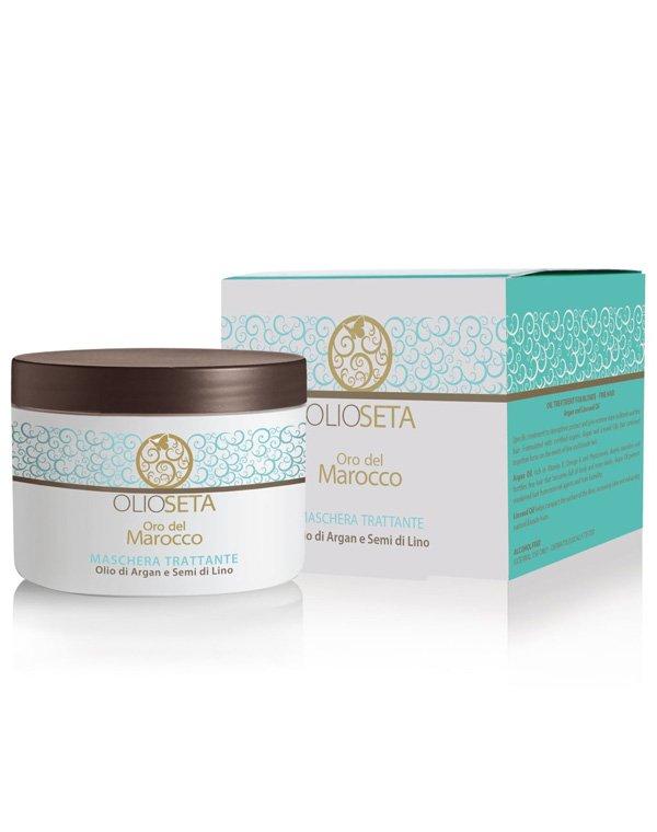 Купить Маска для волос Barex, Питательная маска с маслом арганы и маслом семян льна, Barex