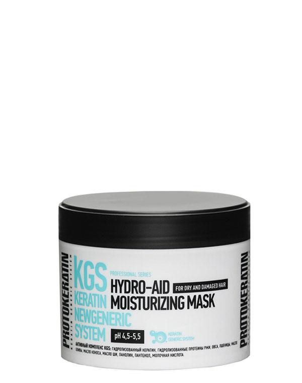 Экспресс-маска увлажнение для жестких сухих волос Hydro-Aid Moisturizing Mask 250 мл Protokeratin