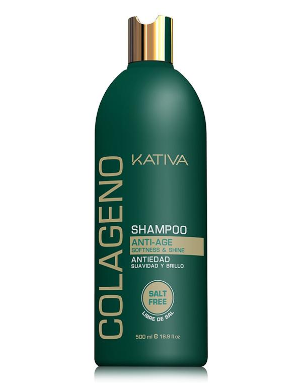 Шампунь KativaШампуни для жирных волос<br>Профессиональный ухаживающий шампунь Kativa для всех типов волос с коллагеновым комплексом, который восстанавливает структуру, улучшает кач...<br><br>Бренды: Kativa<br>Вид товара: Шампунь<br>Область ухода: Волосы<br>Назначение: Увлажнение и питание, Ежедневный уход, Восстановление волос, Очищение волос, Восстановление и защита<br>Тип кожи, волос: Осветленные, мелированные, Окрашенные, Вьющиеся, Сухие, поврежденные, Жирные, Нормальные, Тонкие