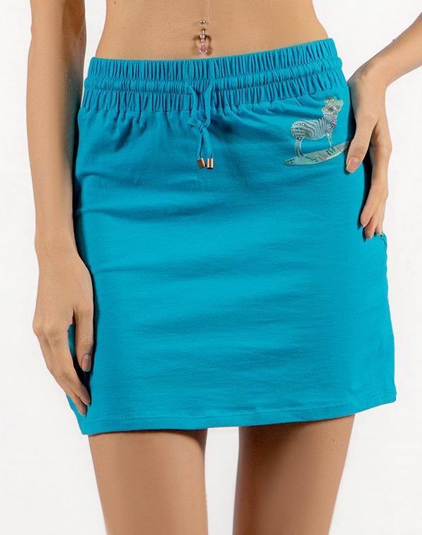 Patrizia Pepe юбка голубая BEACHWEARЮбки<br>Состав: 95% хлопок, 5% эластан<br><br>Размер: S,M