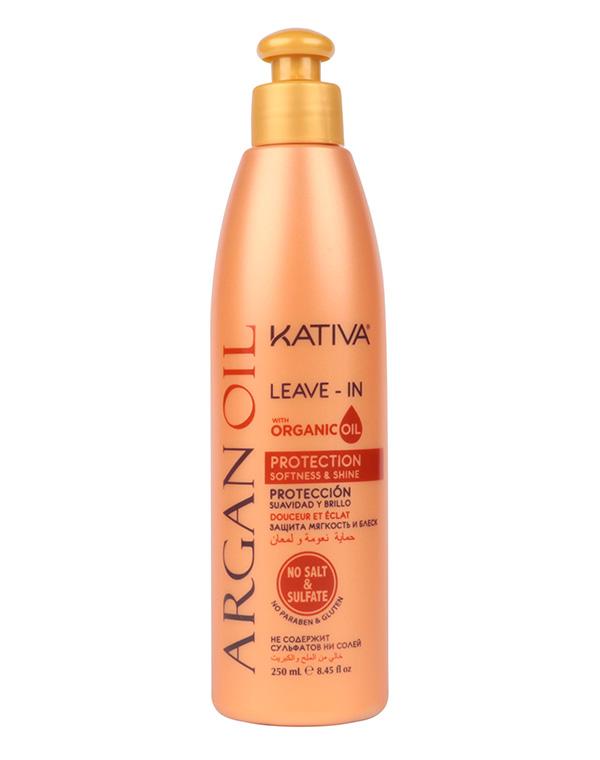 Несмываемый оживляющий концентрат для волос с маслом Арганы ARGAN OIL, Kativa, 250мл