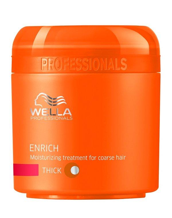Крем Wella ProfessionalМаски для лечения волос<br>Маска позволяет восстановить поврежденные волосы, придать им силу и невероятную мягкость.<br><br>Бренды: Wella Professional<br>Вид товара: Крем, Маска для волос<br>Область ухода: Волосы<br>Назначение: Увлажнение и питание<br>Тип кожи, волос: Сухие, поврежденные<br>Косметическая линия: Линия Wella Enrich Line питания и увлажнения<br>Объем мл: 150