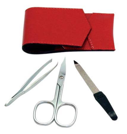 Credo Маникюрный набор N1 ОгоньНаборы средств для маникюра<br>Три необходимых инструмента для быстрого маникюра в огненно-красном чехле наверняка привлекут внимание к Вам и прослужат долгие годы. Теперь ухаживать за своими ручками можно практически, где угодно!<br><br>Бренды: Solingen CREDO<br>Вид товара: Инструмент для маникюра<br>Область ухода: Руки, Ногти<br>Назначение: Придание формы ногтям, Удаление огрубевшей кожи
