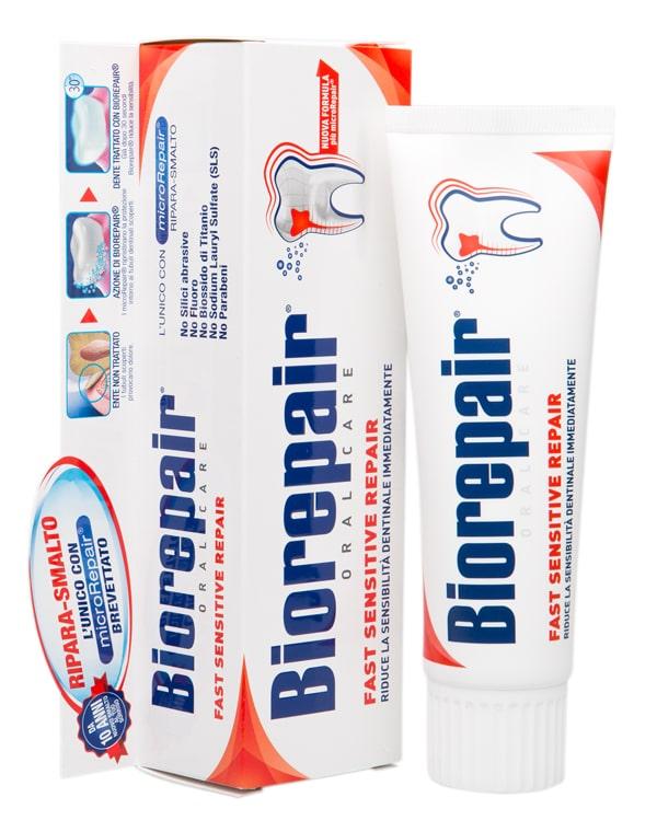 Зубная паста для чувствительных зубов Fast Sensitive Repair, Biorepair, 75 мл фото