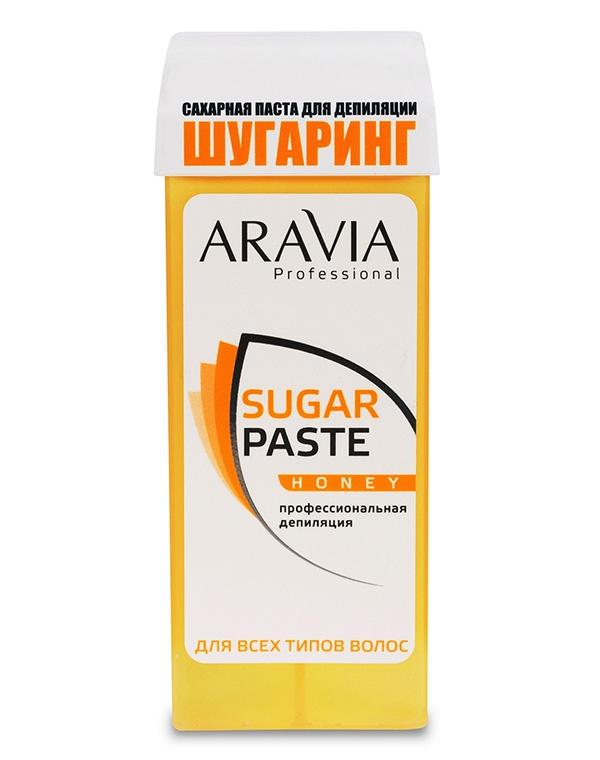 Сахарная паста для депиляции в картридже «Медовая» очень мягкой консистенции, ARAVIA Professional, 150 гр aravia professional сахарная паста в картридже натуральная 150 г