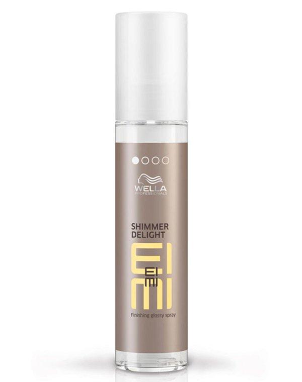 Спрей для мерцающего блеска Shimmer Delight WellaСпрей для волос<br>Спрей придает волосам восхитительный блеск и обеспечивает защиту от UV-излучения.<br><br>Бренды: Wella Professional<br>Вид товара: Несмываемый уход, защита, Спрей, мусс<br>Область ухода: Волосы<br>Назначение: Увлажнение и питание, Стайлинг, Защита от солнца<br>Тип кожи, волос: Осветленные, мелированные, Окрашенные, Вьющиеся, Сухие, поврежденные, Нормальные, Тонкие<br>Косметическая линия: Линия Wella Eimi стайлинга