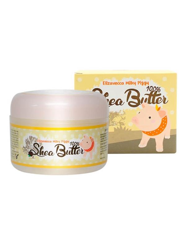 Крем Elizavecca Питательный крем-бальзам для лица с маслом ши Milky Piggy Shea Butter 100% Elizavecca, 88 мл крем elizavecca milky piggy k o 100 мл