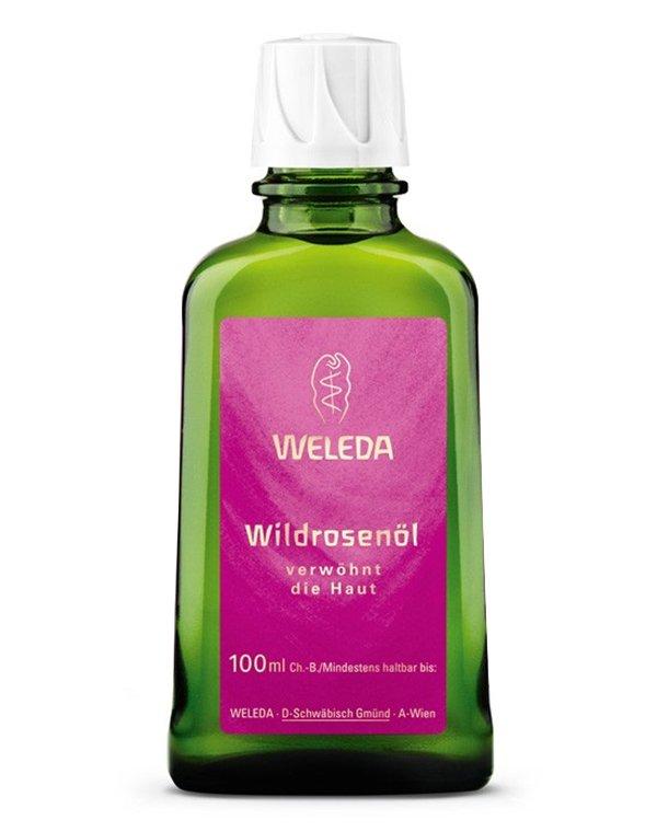 Розовое нежное масло для тела, Weleda - Косметика для массажа