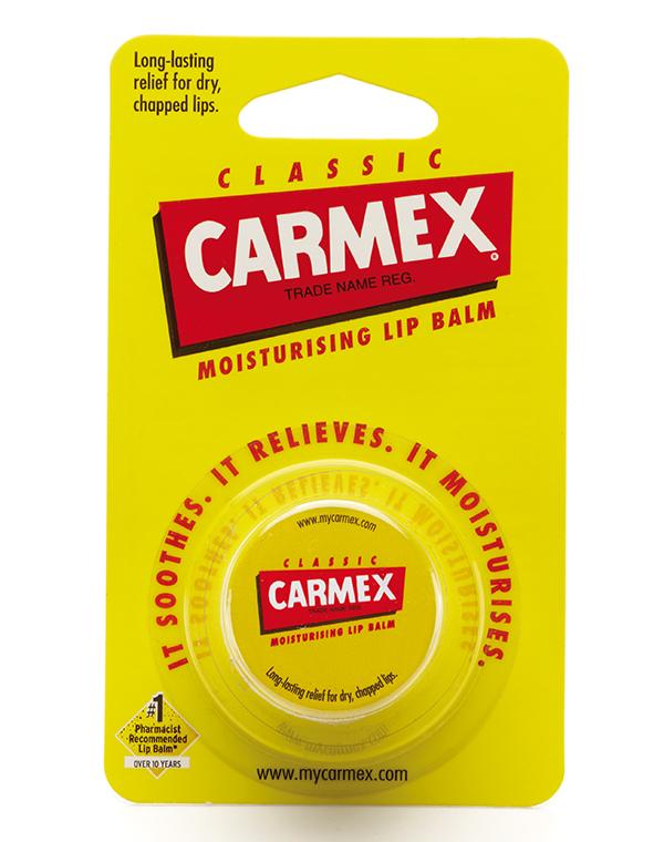 Бальзам CARMEX Увлажняющий бальзам для губ без запаха классический, баночка в блистере, CARMEX