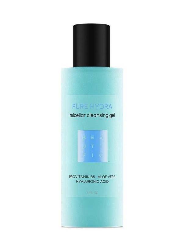 Гель, флюид Beautific, Гель для умывания мицеллярный увлажняющий с гиалуроновой кислотой, провитамином B5 и алоэ вера Pure hydra Beautific, РОССИЯ  - Купить