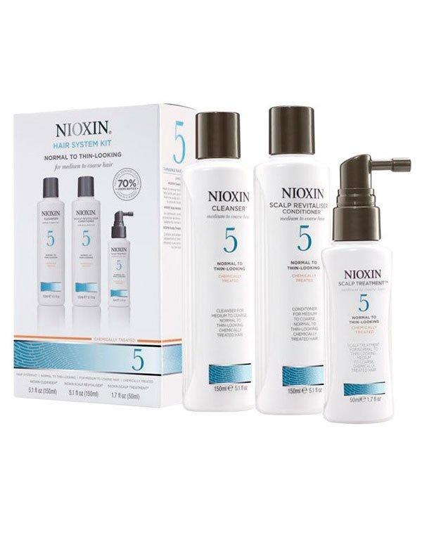 Шампунь NioxinШампуни для сухих волос<br>Программа ухода за нормальными и жесткими волосами, химически обработанными и имеющими первые признаки ослабления.<br><br>Бренды: Nioxin<br>Вид товара: Шампунь, Кондиционер, бальзам, Маска для волос<br>Область ухода: Волосы<br>Назначение: Увлажнение и питание, От выпадения волос, Стимуляция роста, Очищение волос, Для объема<br>Тип кожи, волос: Осветленные, мелированные, Окрашенные, Сухие, поврежденные, Нормальные, Тонкие<br>Косметическая линия: Линия Система 5 Для средних жестких химобработанных /натуральных нормальных/с тенденцией к выпадению