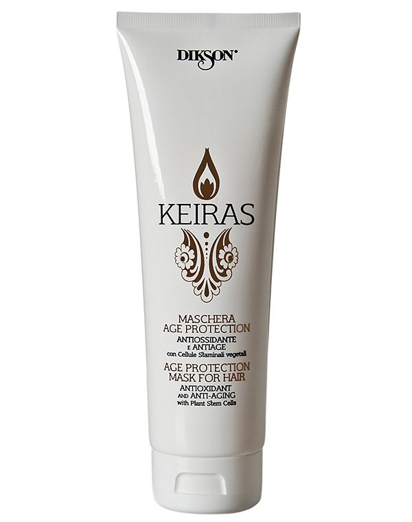 Маска тонизирующая со Стволовыми клетками Maschera  Age Protection, DiksonМаски для сухих волос<br>Маска гарантирует мгновенный эффект. Она содержит мощный восстанавливающий комплекс, действующий на волосяной стержень и оказывающий омолаживающий эффект.<br><br>Бренды: Dikson<br>Вид товара: Маска для волос<br>Область ухода: Волосы<br>Назначение: Увлажнение и питание<br>Тип кожи, волос: Осветленные, мелированные, Окрашенные, Вьющиеся, Сухие, поврежденные, Нормальные, Тонкие<br>Косметическая линия: Линия Keiras Age Protection для тонизирования волос<br>Объем мл: 500