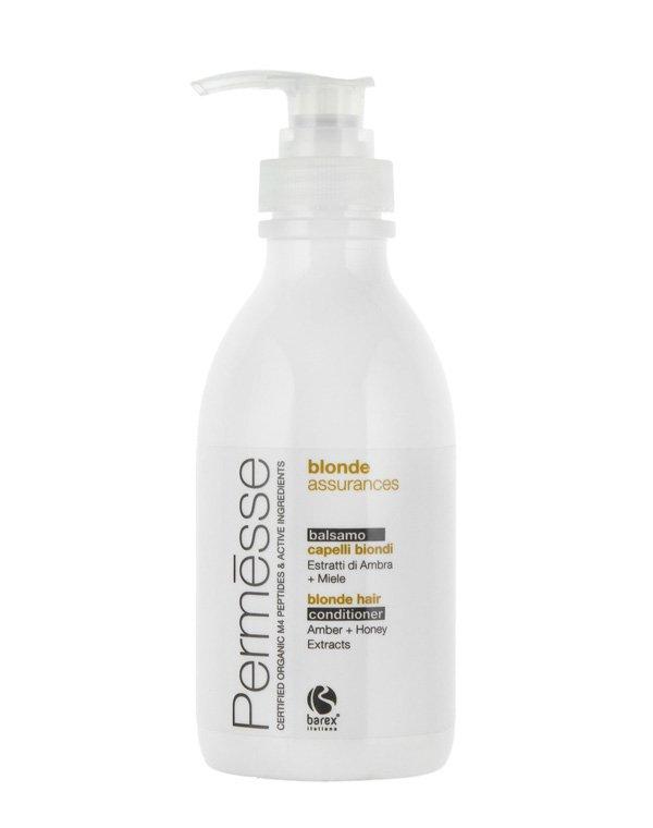 Бальзам для осветленных волос с экстрактом Янтаря и МёдомБальзамы для окрашеных волос<br>Полноценный уход за осветленными волосами. Защита цвета, интенсивное увлажнение и питание. Наносится на влажные волосы.<br><br>Бренды: Barex<br>Вид товара: Кондиционер, бальзам<br>Область ухода: Волосы<br>Назначение: Защита цвета, Органический уход<br>Тип кожи, волос: Окрашенные, Осветленные, мелированные<br>Косметическая линия: PERMESSE Линия уход за окрашенными волосами<br>Объем мл: 1000
