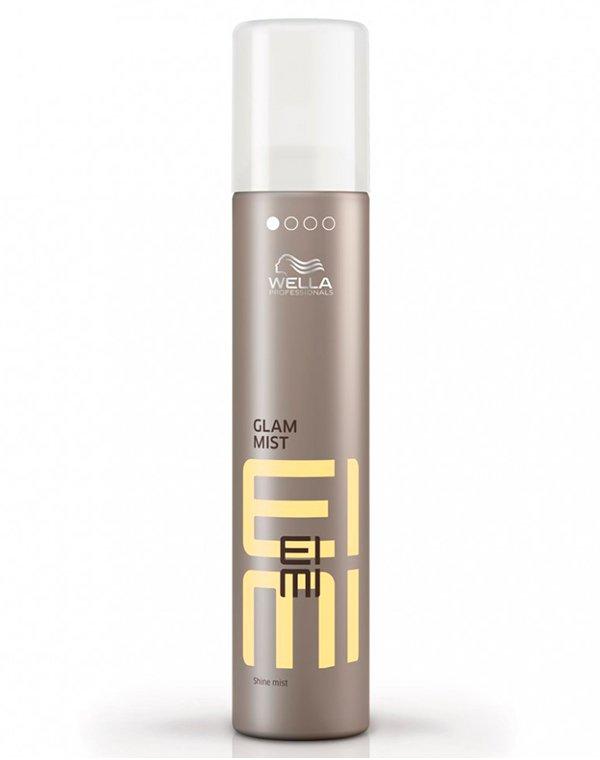 Дымка-спрей для блеска Glam Mist WellaСпрей для волос<br>Легкий спрей для придания волосам невероятного гламурного блеска и защиты от UV-излучения.<br><br>Бренды: Wella Professional<br>Вид товара: Спрей, мусс<br>Область ухода: Волосы<br>Назначение: Стайлинг, Термозащита, Защита от солнца<br>Тип кожи, волос: Осветленные, мелированные, Окрашенные, Вьющиеся, Сухие, поврежденные, Нормальные, Тонкие<br>Косметическая линия: Линия Wella Eimi стайлинга