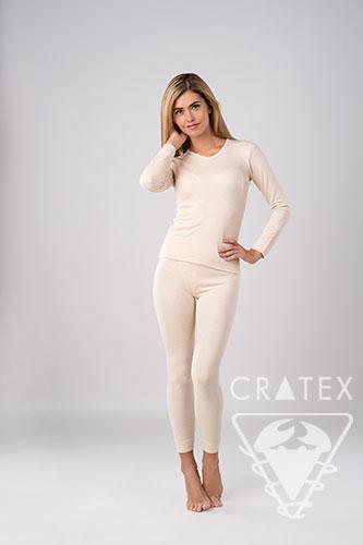 Женское термобелье с кашемиром, комплект Cratex