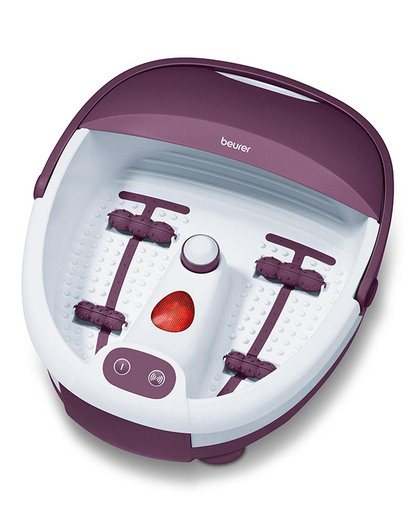 Гидромассажная ванночка для ног FB 21, Beurer, белый/фиолетовый гидромассажная ванночка для ног smile wfm 3006