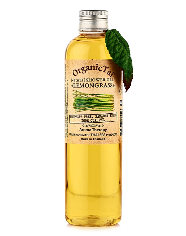 Гель, флюид Organic Tai Гель для душа натуральный «Лемонграсс» Organic Tai, 260 мл гель для душа nagara молочный whip latte 260 мл