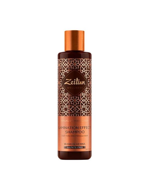 Купить Шампунь Zeitun, Шампунь для волос с эффектом ламинирования Ритуал совершенства с иранской хной Zeitun