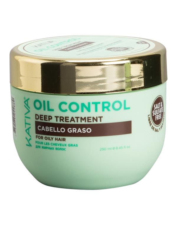 Купить Маска Kativa, Маска «Контроль» интенсивный уход для жирных волос OIL CONTROL Kativa, 250 мл, ПЕРУ