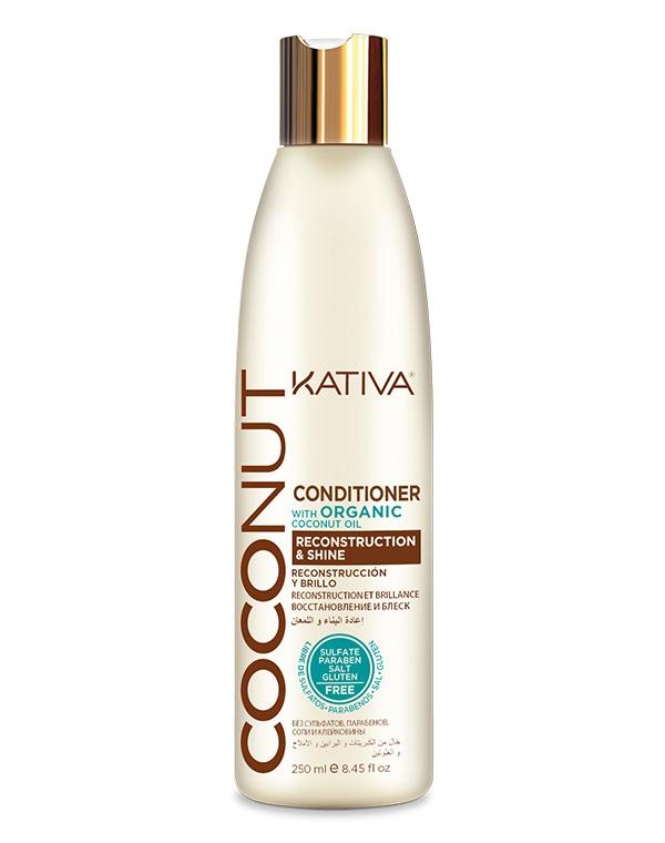Купить Кондиционер, бальзам Kativa, Восстанавливающий кондиционер с органическим кокосовым маслом для поврежденных волос Coconut, Kativa