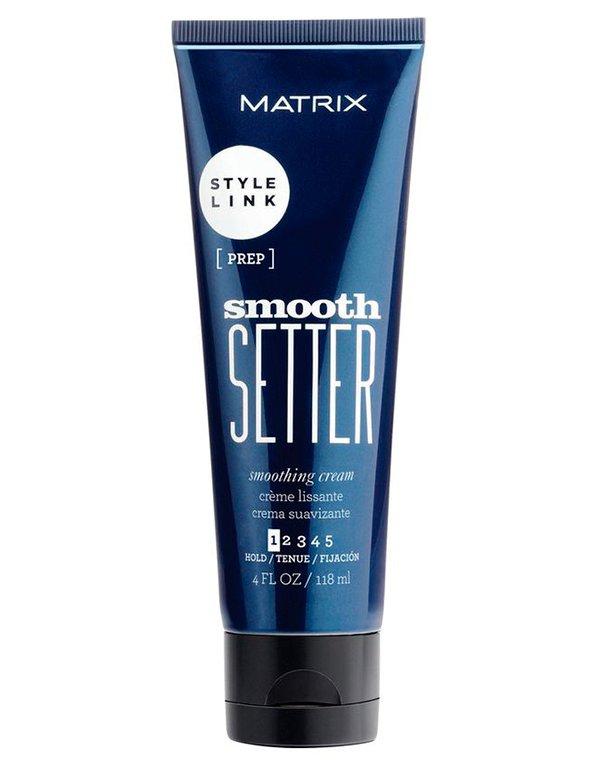 Крем MatrixКрем для волос<br>Разглаживающий крем от Matrix. Подходит для ухода за вьющимися и непослушными волосами. Не склеивает и не утяжеляет пряди, делает волосы гладк...<br><br>Бренды: Matrix<br>Вид товара: Крем<br>Область ухода: Волосы<br>Назначение: Стайлинг, Выпрямление<br>Тип кожи, волос: Осветленные, мелированные, Окрашенные, Вьющиеся, Сухая, Сухие, поврежденные, Жирные, Жирная и комбинированная, Нормальная, Нормальные, Тонкие<br>Косметическая линия: Линия StyleLink для укладки волос