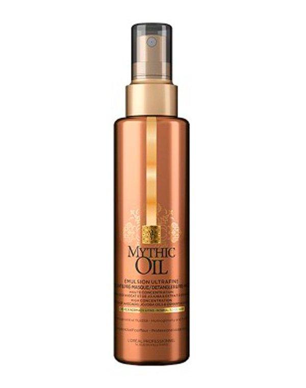 Эмульсия для тонких волос Emulsion Ultrafine Mythic Oil LorealЭмульсия мгновенно восстанавливает тонкие волосы, делает их гладкими и послушными. Легкая текстура состава не утяжеляет локоны.<br><br>Бренды: Loreal Professional<br>Вид товара: Сыворотка, флюид<br>Область ухода: Волосы<br>Назначение: Увлажнение и питание, Для объема<br>Тип кожи, волос: Сухие, поврежденные, Тонкие<br>Косметическая линия: Линия Mythic Oil для питания и укрепления волос