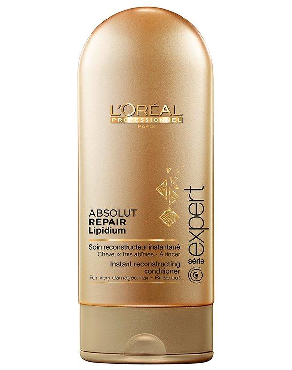 Смываемый уход Absolut Repair Lipidium LorealКондиционер создан для экстренного восстановления ослабленных прядей. Он укрепляет локоны изнутри, насыщает их питательными компонентами.<br><br>Бренды: Loreal Professional<br>Вид товара: Кондиционер, бальзам<br>Назначение: Увлажнение и питание, Восстановление волос<br>Тип кожи, волос: Осветленные, мелированные, Окрашенные, Сухие, поврежденные<br>Косметическая линия: Линия Absolut Repair Lipidium мгновенного восстановления сильно поврежденных волос