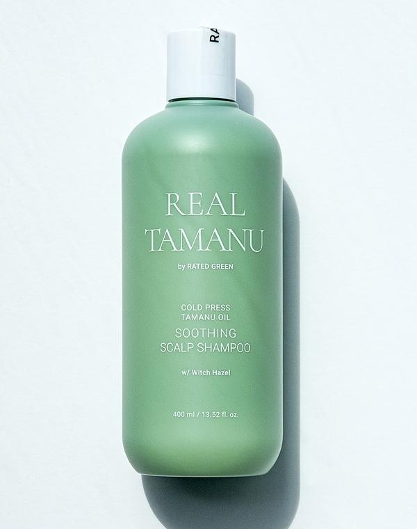 Купить Шампунь Rated Green, Шампунь успокаивающий с маслом таману холодного отжима Soothing Scalp Shampoo 400мл Rated Green