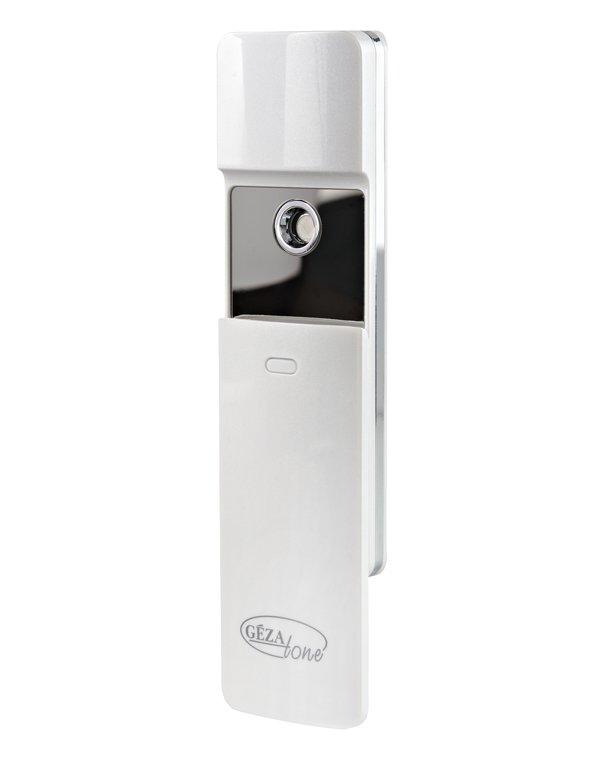Увлажнитель для кожи лица NanoSteam, Gezatone AH901Портативный увлажнитель для кожи – это отличный способ быстро восстановить уровень влаги в коже лица и тела, устранить сухость и ломкость волос, облегчить дыхание в кондиционируемых помещениях.<br><br>Бренды: GEZATONE<br>Вид товара: Массажер, аппарат<br>Область ухода: Вокруг глаз, Лицо, Шея и подбородок<br>Назначение: Увлажнение и питание, Ежедневный уход<br>Тип кожи, волос: Сухая, Увядающая, Жирная и комбинированная, Нормальная, Чувствительная, С куперозом<br>Возрастная группа: Более 40, До 30, До 40