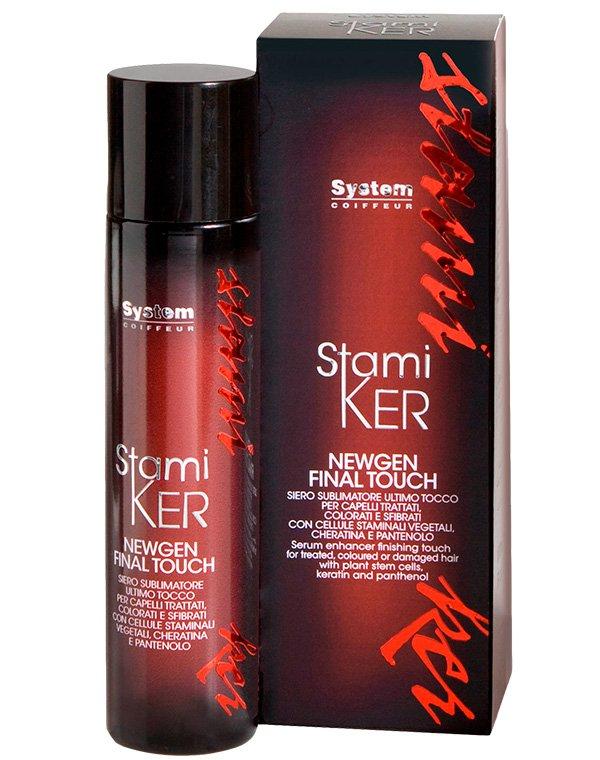 Спрей для окрашенных волос Final Touch Stamiker Newgen, DiksonБальзамы для окрашеных волос<br>Спрей предназначен для поддержания и усиления эффекта лечения локонов. Он основан на пантеноле и стволовых клетках сирени. Дополнительно формула содержит кератин.<br><br>Бренды: Dikson<br>Вид товара: Спрей, мусс<br>Область ухода: Волосы<br>Назначение: Увлажнение и питание, Защита цвета, Для секущихся кончиков<br>Тип кожи, волос: Окрашенные, Осветленные, мелированные<br>Косметическая линия: Линия Stamiker Anti-Age лечения волос и кожи головы со стволовыми клетками