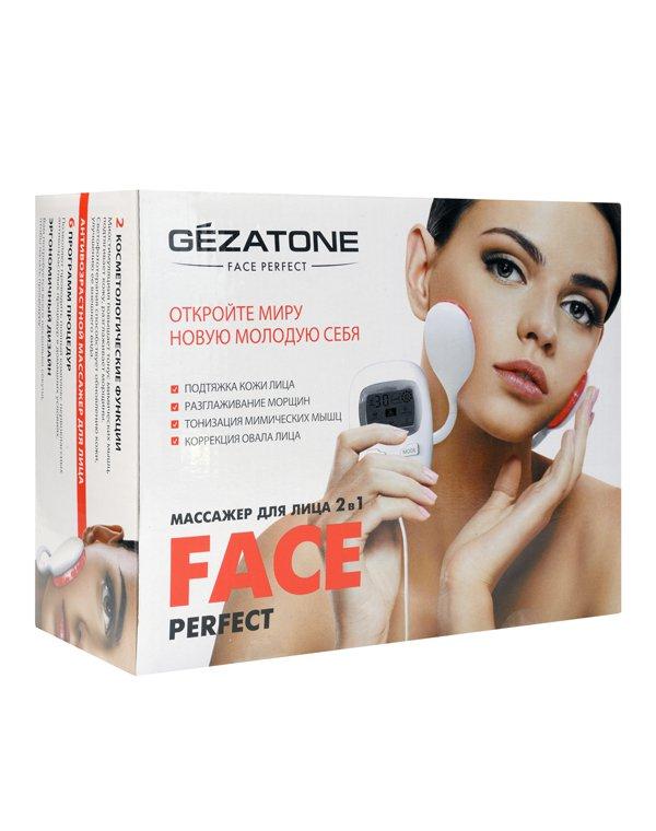 Массажер, аппарат GEZATONE Миостимулятор  для безоперационного лифтинга лица и светотерапии Perfect Face Gezatone