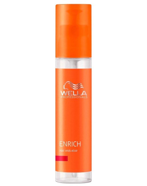 Сыворотка, флюид Wella ProfessionalМасла от секущихся кончиков<br>Питательный эликсир для ухода за кончиками волос. Снижает хрупкость и ломкость волос.<br><br>Бренды: Wella Professional<br>Вид товара: Сыворотка, флюид, Несмываемый уход, защита<br>Область ухода: Волосы<br>Назначение: Увлажнение и питание<br>Тип кожи, волос: Осветленные, мелированные, Окрашенные, Вьющиеся, Сухие, поврежденные, Нормальные, Тонкие<br>Косметическая линия: Линия Wella Enrich Line питания и увлажнения