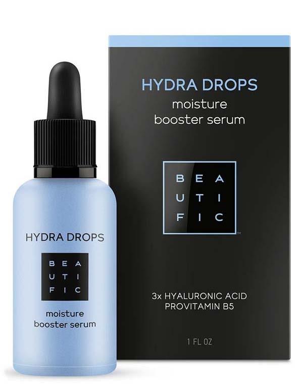 Cыворотка-бустер увлажнения с 3 видами гиалуроновой кислоты и витамином В5 Hydra Drops Beautific
