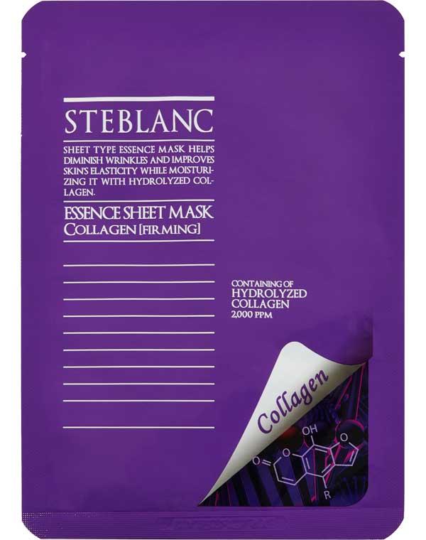 Купить Маска Steblanc, Тканевая маска для лица укрепляющая с гидролизованным коллагеном Essence SheetMask Collagen Steblanc, КОРЕЯ, РЕСПУБЛИКА