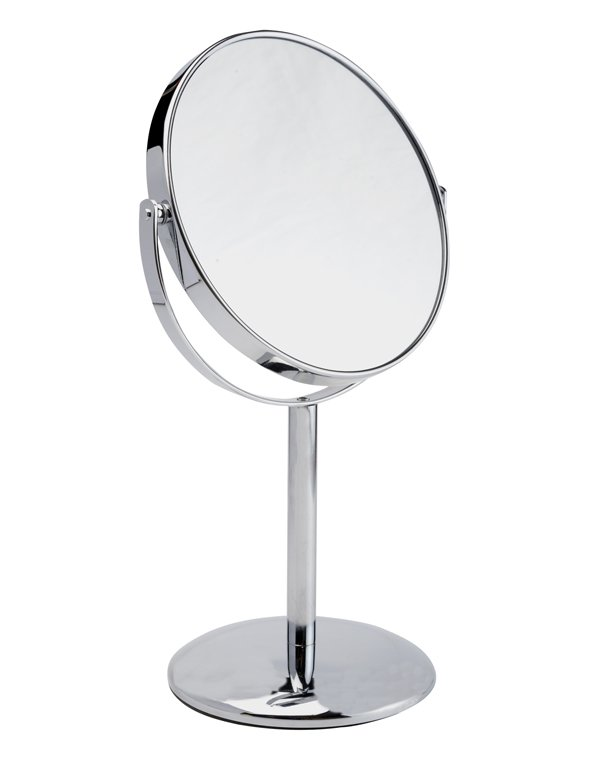 Косметическое зеркало с 5ти-кратным увеличением Gezatone LM874Зеркало косметическое настольное<br>Устойчивое и удобное, зеркало LM874 Gezatone прекрасно подойдет для нанесения макияжа, проведения косметических процедур. Одна сторона зеркала имеет 5тикратное увеличение для максимального удобства.<br>