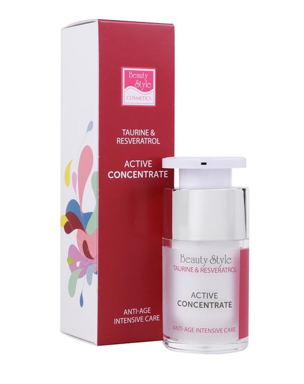Активный концентрат Anti Age plus Taurine & Resveratrol, Beauty Style, 15 мл