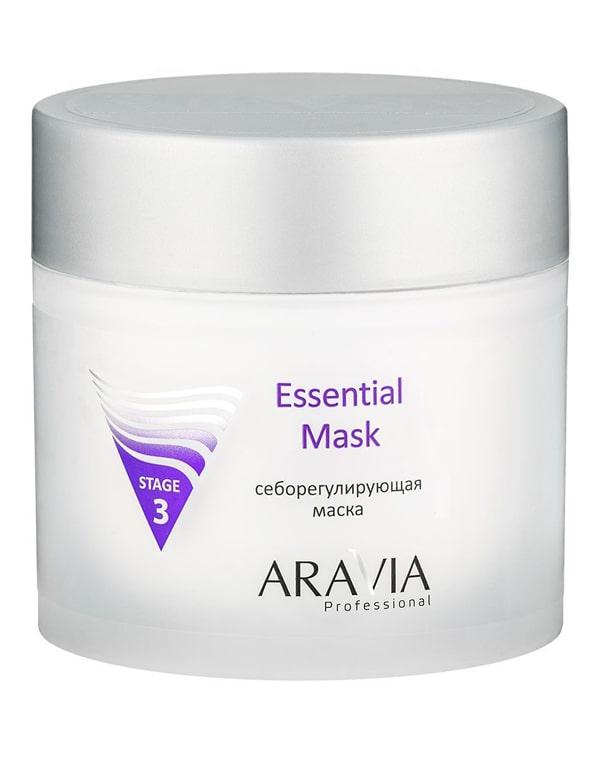 Себорегулирующая маска Essential Mask, ARAVIA Professional, 300 мл aravia очищающая маска с активированным углём purifying detox mask 150 мл
