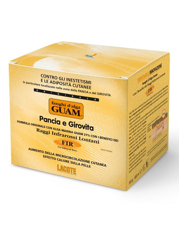 Купить Маска GUAM, Маска моделирующая для живота и талии с микрокристаллами Турмалина, GUAM