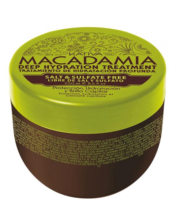 Маска для волос Kativa Интенсивно увлажняющая маска для волос Kativa MACADAMIA, 500мл интенсивно увлажняющий кондиционер kativa для нормальных и поврежденных волос macadamia 1000мл