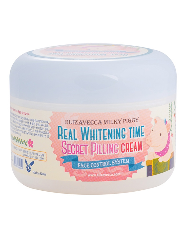 Крем Elizavecca Пилинг-крем для лица Milky Piggy Real Whitening Time Secret Pilling Cream Elizavecca, 100 мл elizavecca крем для эластичности зоны декольте milky piggy super elastic bust cream 100 мл