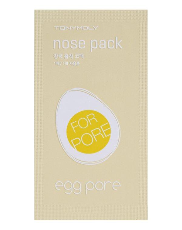 Очищающие полоски для носа Egg Pore Nose Pack, Tony MolyКосметика<br>Полоска эффективно борется с черными точками. Благодаря натуральным активным веществам она очищает поры, делает их визуально менее заметными.<br>