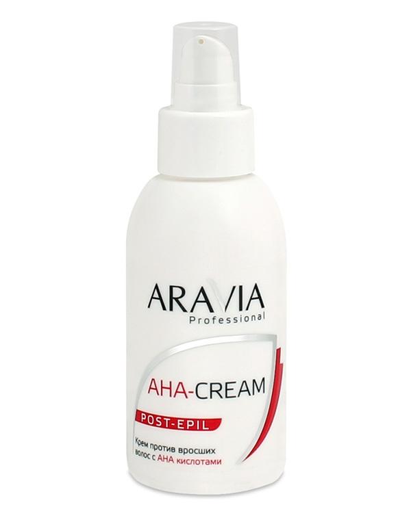 Косметика для депиляции AraviaСредства против вросших волос<br>Для профилактики врастания волос опытные косметологи предпочитают работать с кремом с АНА кислотами. Он обладает легким эффектом пилинга, обеспечивая свободный рост тонким волоскам.<br><br>Бренды: Aravia<br>Вид товара: Косметика для депиляции<br>Назначение: Успокаивающее<br>Косметическая линия: Линия ARAVIA Professional
