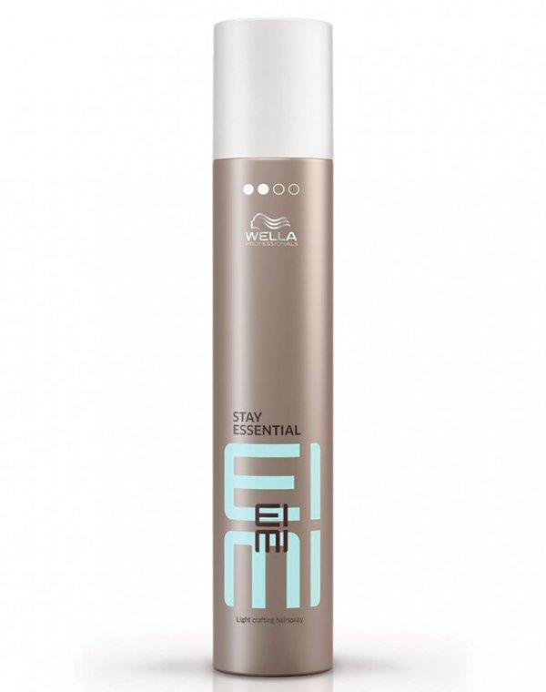 Лак для волос легкой фиксации Stay Essential WellaЛак для волос<br>Лак для легкой фиксации волос. Наделяет волосы сиянием, обеспечивает защищу от негативных факторов.<br><br>Бренды: Wella Professional<br>Вид товара: Спрей, мусс<br>Область ухода: Волосы<br>Назначение: Стайлинг<br>Тип кожи, волос: Осветленные, мелированные, Окрашенные, Вьющиеся, Сухие, поврежденные, Нормальные, Тонкие<br>Косметическая линия: Линия Wella Eimi стайлинга