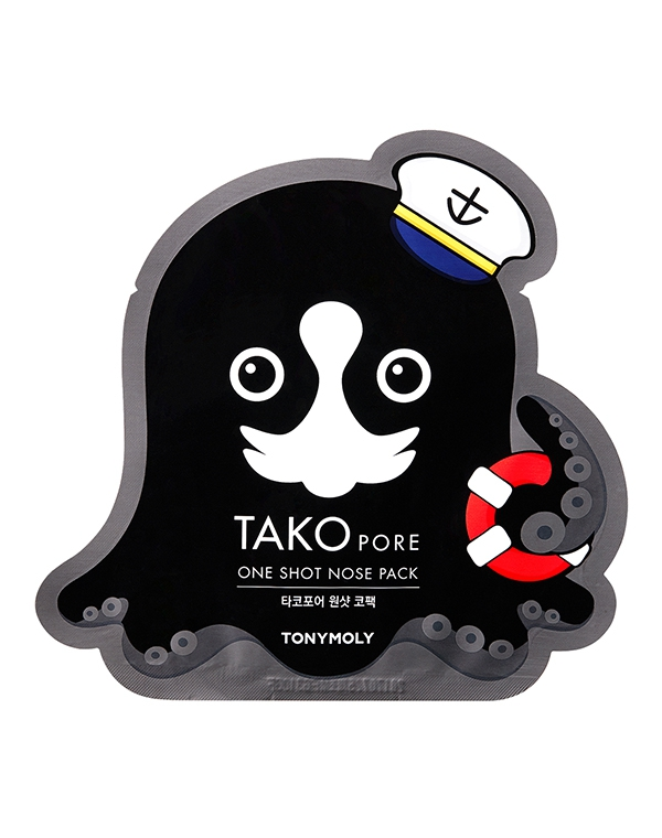 Нетканная маска, патч Tony Moly Пластырь для носа Tako Pore One Shot Nose Pack Tony Moly 1 шт охлаждающая сыворотка tony moly tony lab pore solution frozen serum