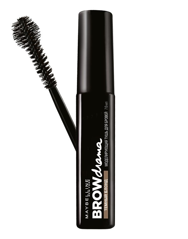 Тушь MAYBELLINE Тушь для бровей Brow Drama, MAYBELLINE тушь для ресниц maybelline volum express x3 black