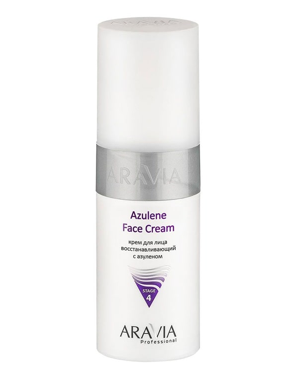 Купить Крем Aravia, Крем для лица восстанавливающий с азуленом Azulene Face Cream, ARAVIA Professional, 150 мл