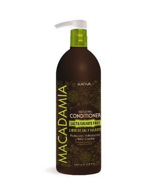 Кондиционер, бальзам Kativa Интенсивно увлажняющий кондиционер Kativa для нормальных и поврежденных волос MACADAMIA, 1000мл интенсивно увлажняющий кондиционер kativa для нормальных и поврежденных волос macadamia 1000мл