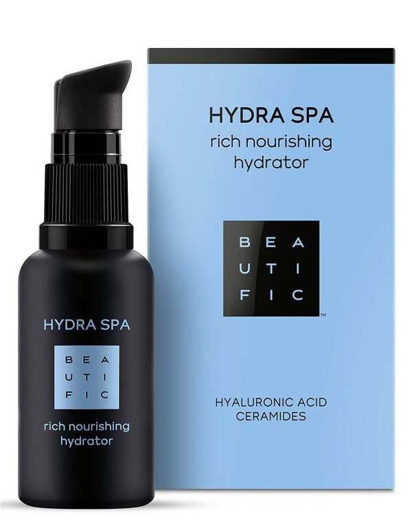 Крем насыщенный увлажняющий для лица с гиалуроновой кислотой и церамидами Hydra SPA Beautific